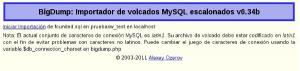 Importación de archivos SQL superiores a 55Mb con BIGdump sin utilizar PHPMyAdmin