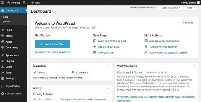 Aprende cómo configurar el Dashboard de WordPress a tu gusto - SERED