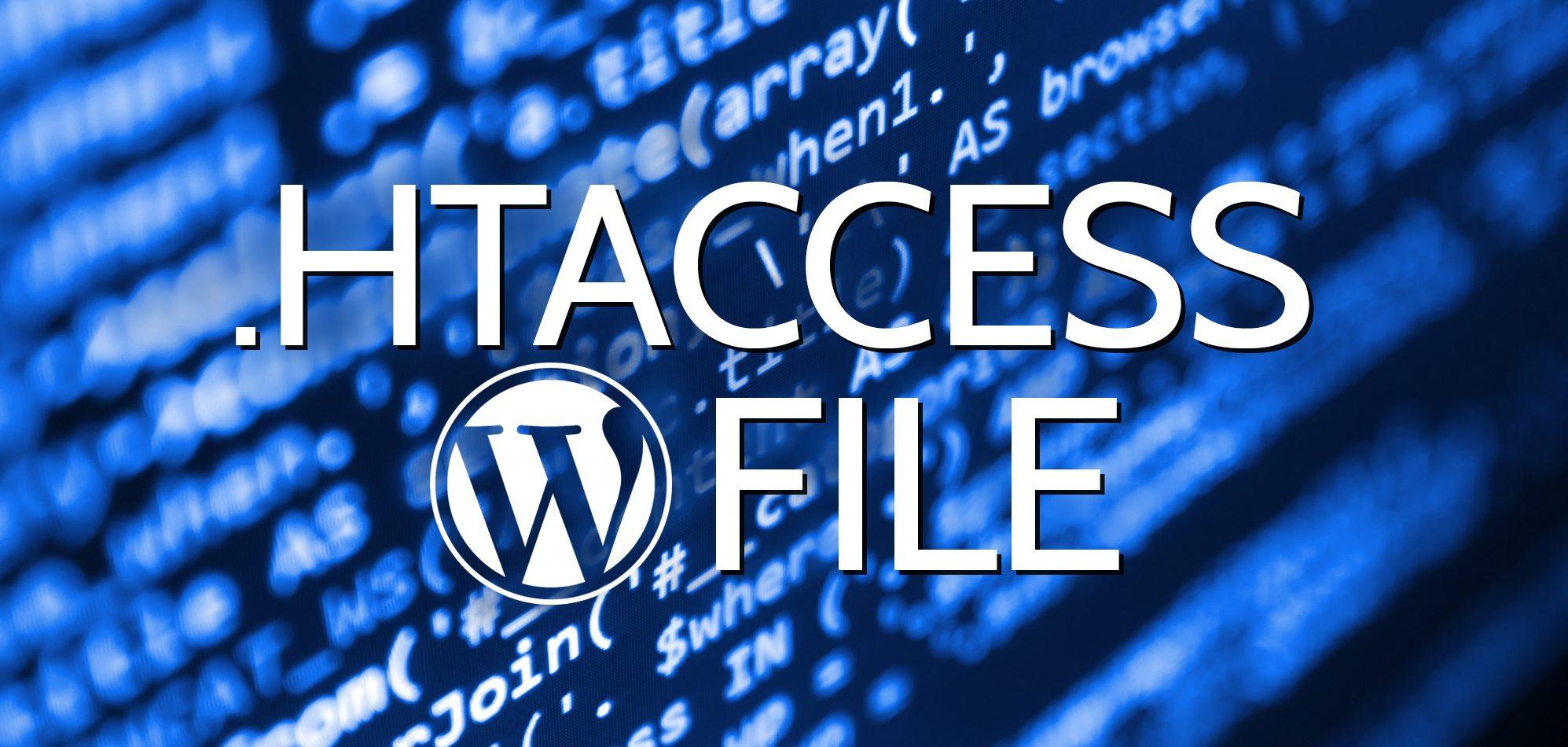 Uso del archivo .htaccess predeterminado de WordPress
