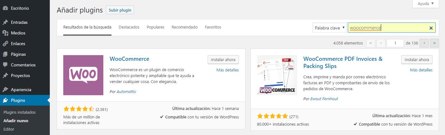 WooCommerce para tiendas en WordPress