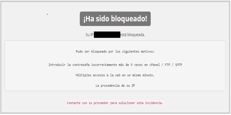 Desbloquear IP de una web o correo.