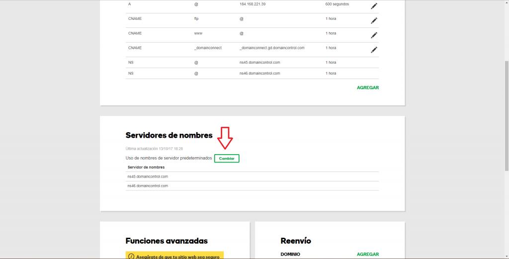 Imagen de cambio de DNS