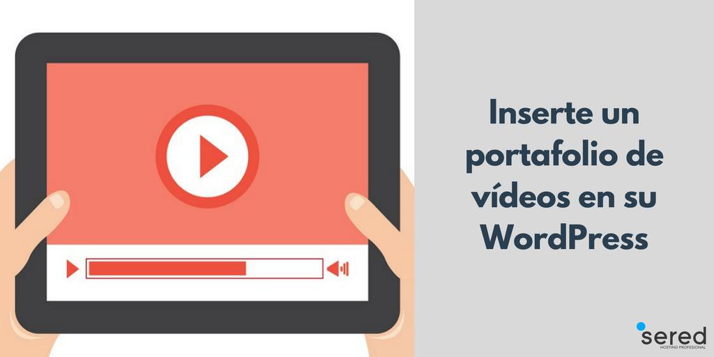 Inserte un portafolio de vídeos en su WordPress