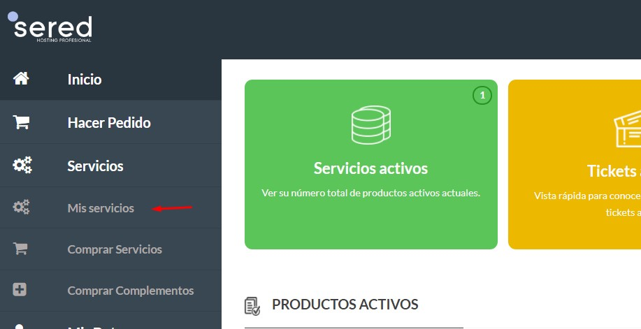 area de clientes sered.net